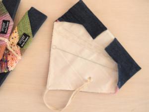 ガラスストローケース(さをり織り)2